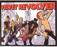 Velvet Revolver Vinyl Sticker Animated Band Logo