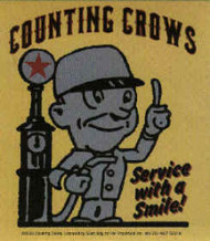 Counting Crows Vinyl Sticker Service With A Smile