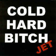 Jet Vinyl Sticker Cold Hard Bitch Logo