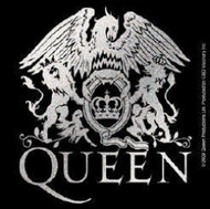 Queen Vinyl Sticker Silver Glitter Crown Crest Logo