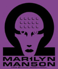 Marilyn Manson Vinyl Sticker Purple Head Logo