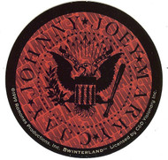 The Ramones Vinyl Sticker Red Eagle Circle Logo