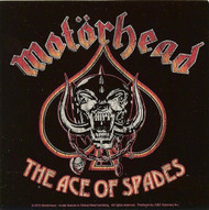 Motorhead Vinyl Sticker Square Ace Of Spades Logo