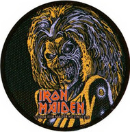 Iron Maiden Sew On Patch Eddie Circle Logo