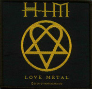 HIM Sew On Patch Love Metal Heartagram Logo