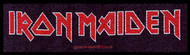 Iron Maiden Sew On Patch Strip Letters Logo