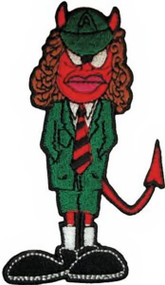 AC/DC Iron-On Patch Angus Young Figure