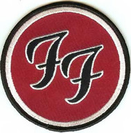 Foo Fighters Iron-On Patch Round FF Logo