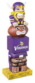 """Tiki Tiki Totem, Minnesota Vikings 16"""" h."""