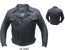 Men's Double Pistol Pete Premium Buffalo Motorcycle Jacket