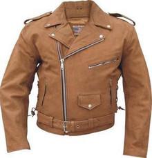 Brown Buffalo  Nubuck Mens Leather Motorcycle biker Jacket