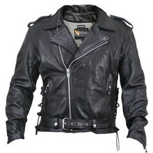Armored Black Premium Distressed Leather Motorcycle Biker Jacket