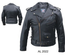 Men's Premium Black Buffalo Leather Motorcycle Jacket