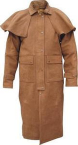 Duster Buffalo Brown Buff Leather Jacket with Zip out Lining 48-54