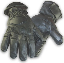 Black Deerskin Thinsulate Insulated Leather Motorcycle Gloves