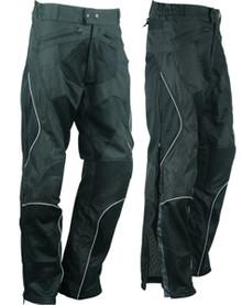 Mens / Womens Mesh All Season Armored Motorcycle Pants W/Zip Out Waterproof Liner