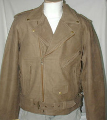 Bigfoot Brown Buckskin Men's Premium Leather Motorcycle Jacket