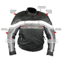Womens Leather Cordura armored vented Motorcycle Jacket  CLOSEOUT PRICED