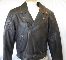 Brown Retro Premium Leather Classic Motorcycle Jacket