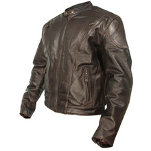 Brown Retro Premium Leather Vented Speedster Motorcycle Jacket