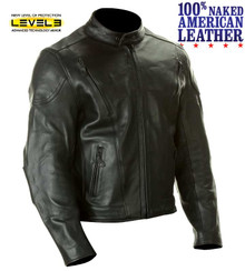 A1 Mens Premium American Naked Leather Armored Motorcycle Biker Jacket Med or 4XL Closeout