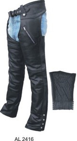 Mens / Womens Premium Buffalo Black Chaps with Zip out Lining