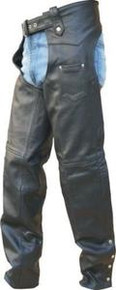 Mens TALL Chaps, Lined full covered Zipper Black Retail $179.95