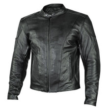 Black  Renegade Leather Motorcycle Biker Jacket W/ Gun Pockets by Xelement IN STOCK