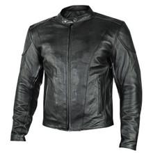 Black  Renegade Leather Motorcycle Biker Jacket W/ Gun Pockets by Xelement IN STOCK