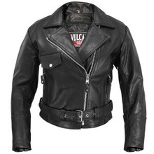 Black Vulcan Womens Leather Motorcycle Biker Jacket Zip out lining  CLOSEOUT