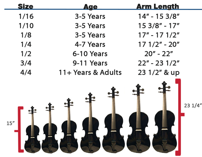 How To Buy A Violin Violin Sizes Amp Types Austin Bazaar