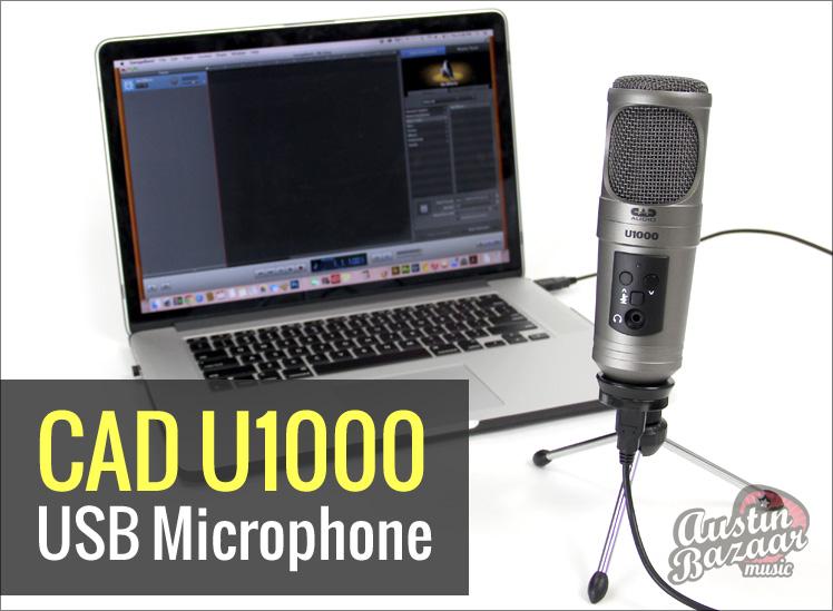 cad u1000 review usb microphone for pc mac austin bazaar music. Black Bedroom Furniture Sets. Home Design Ideas