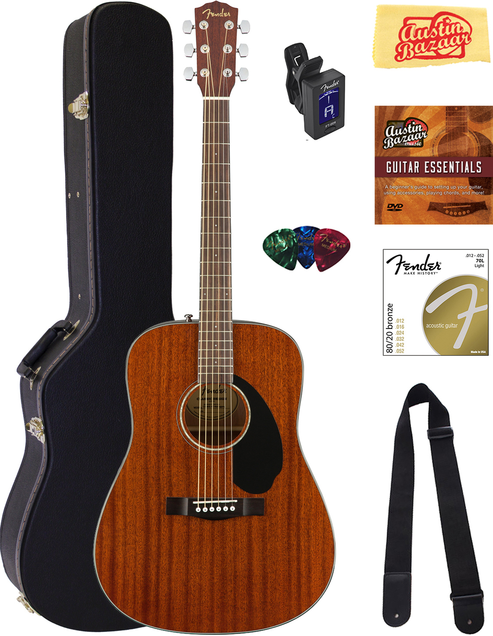 Acoustic guitar buying guide austin bazaar music fender cd 60s dreadnought acoustic guitar all mahogany w hard case jeuxipadfo Gallery
