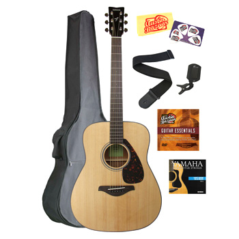 Yamaha FG800 Acoustic Guitar Bundle - Natural