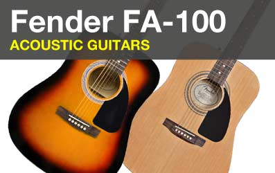 Shop Fender FA-100 Acoustic Guitars