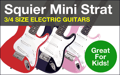 Shop Squier Mini Strat Electric Guitars