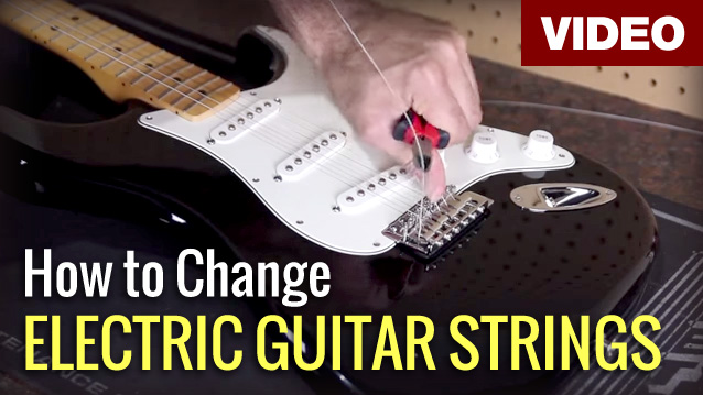 how to change electric guitar strings video austin bazaar music. Black Bedroom Furniture Sets. Home Design Ideas