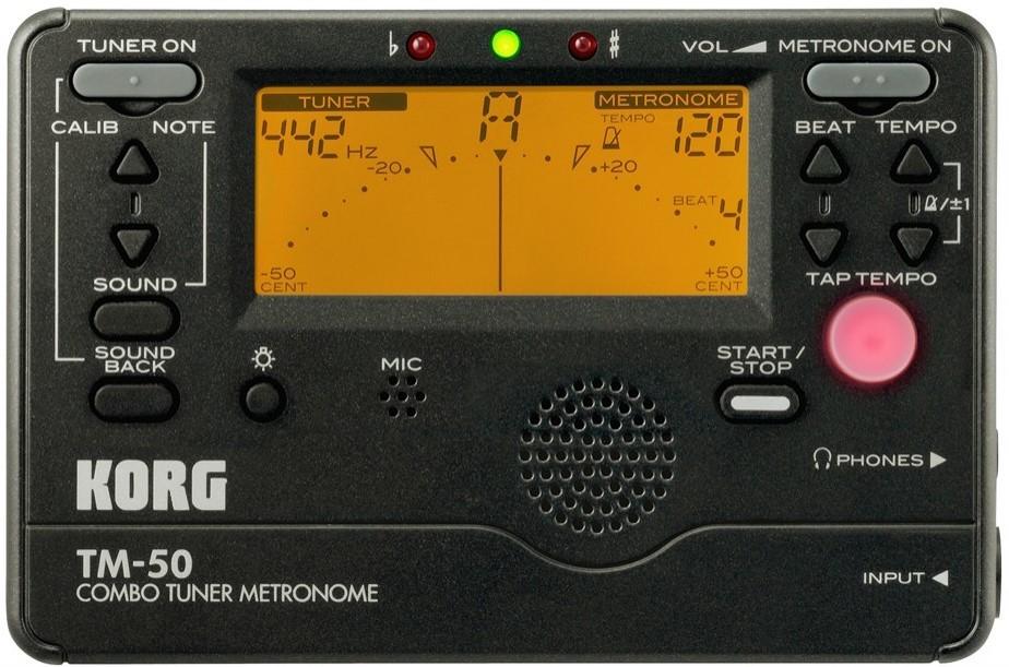 KORG TM-50 TUNER/METRONOME - BLACK