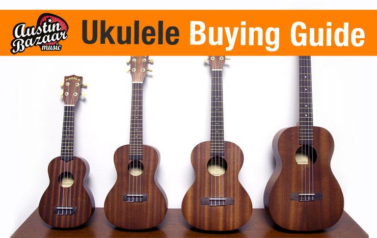 ukulele buying guide different ukulele sizes austin bazaar music. Black Bedroom Furniture Sets. Home Design Ideas