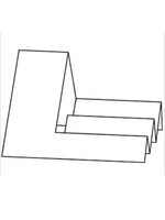 Side Step Card - Bazzill White 10pk