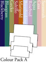 Tri-Fold Rectangles - Colour Pack A