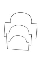Tri-Fold Ovals - Bazzill White 10pk