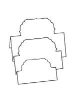 Tri-Fold Lables 4 - Bazzill White 10pk