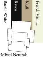 Tri-Fold Rectangles - Neutrals