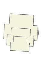 Tri-Fold Rectangles - French Vanilla 10pk