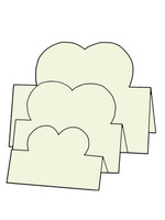 Tri-Fold Hearts - French Vanilla 10pk