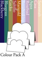 Tri-Fold Hearts - Colour Pack A