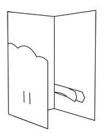 Buckle Invitation - Bazzill White 10pk