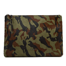 BROOKLYN CAMOUFLAGE PONYHAIR CLUTCH