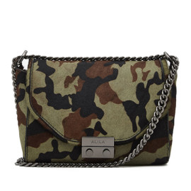 RILEY CAMOUFLAGE PONYHAIR CROSS BODY BAG